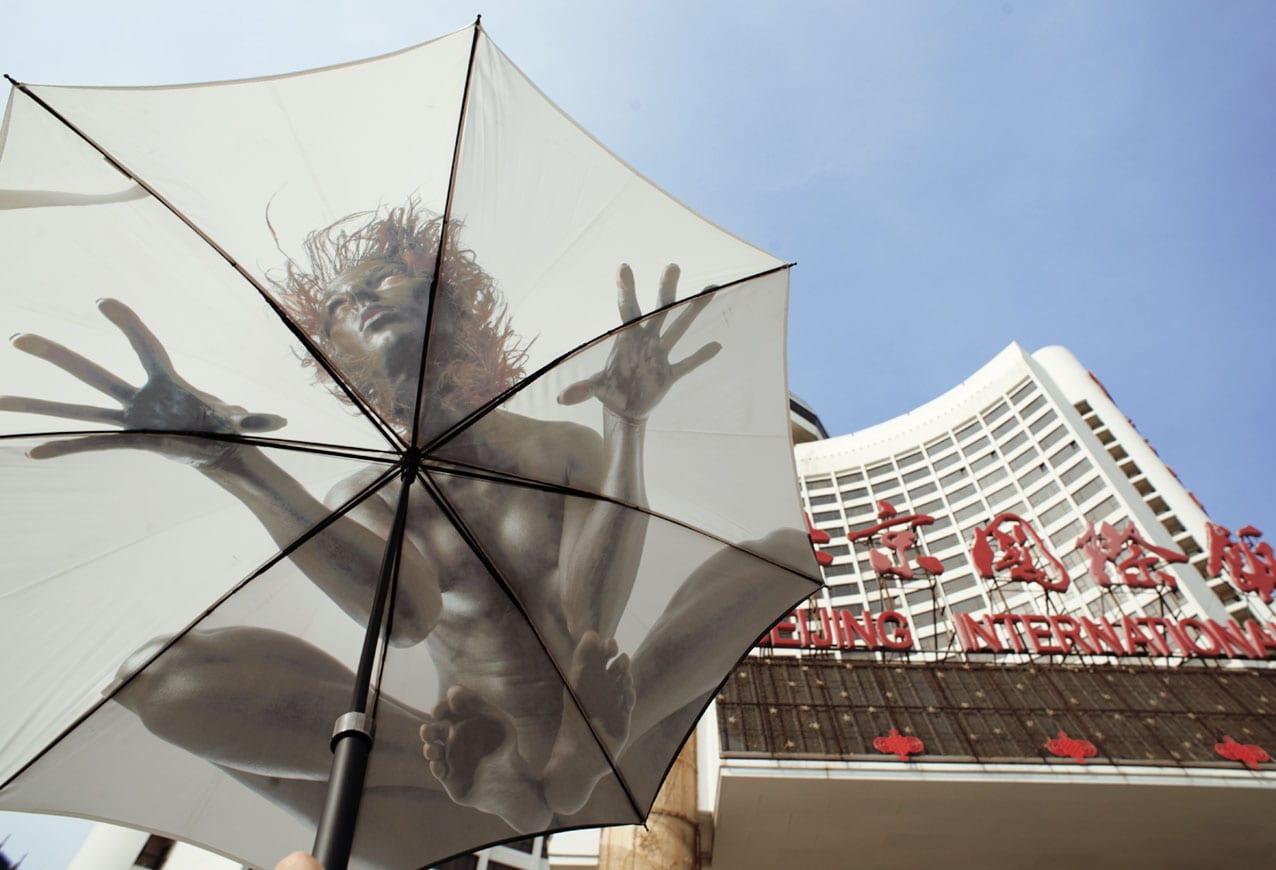 cadeau nice parapluie art tirage limité